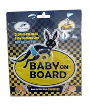 """Glowing in The Dark UV Reflecting """"Baby on board"""" Car Sign with Suction Cup - $2.96"""