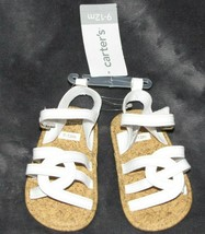 Baby Girl Carter's White Strappy Sandals Soft Sole Size 9-12 M Easter Ch... - $11.28