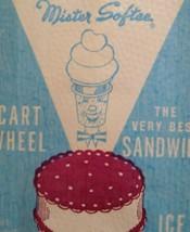 Mister Softee Ice Cream Sandwich Cart Wheel Wrapper Vintage Dairy Bag 19... - $8.87