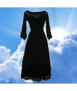 1950s vintage sheer black prom petticoat crinoline dress size 0 2 extra ... - $199.99