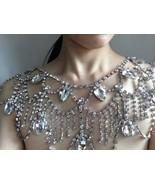 Sparkle Swarovski rhinestones crystals and pearls wedding bridal shoulde... - $88.00