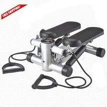New Aerobic FitnessAdjustable Twister Stepper W/ Rope, Mini Stepper Mac... - $46.80