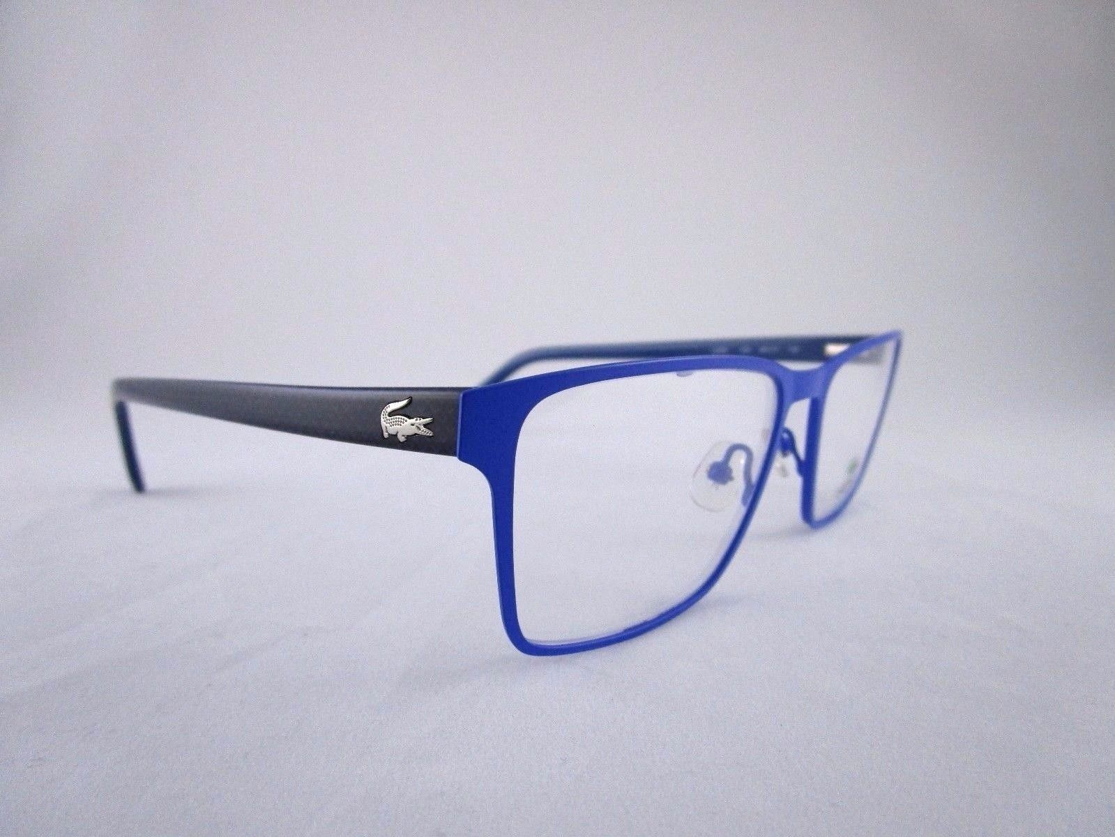 Lacoste L2205 Optical Frame Rectangular Blue Metal Eyeglasses