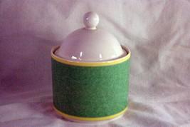 Fitz & Floyd Correlations Green Covered Sugar Bowl - $11.77