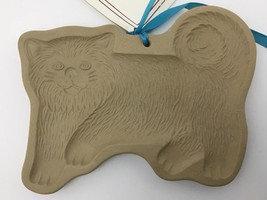 80s Brown Bag Cookie Press Furry Cat Craft Food Mold USA with Recipe Book Rare - $44.50