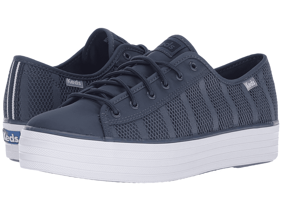 Keds WF58055 Women's Triple Kick Striped Mesh Indigo Shoes, 9.5 Med