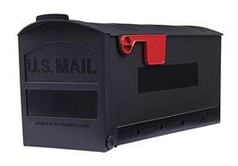 Gibraltar Mailboxes Patriot Medium Capacity Rust-Proof Plastic Black, Post-Mount