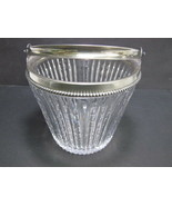 Sterling rim American Brilliant Period hand Cut Glass ice bucket  ABP an... - $92.57