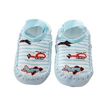Toddler Baby Cartoon Thick and Warm Non-Slip Floor Socks 1 Pair, Blue