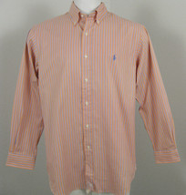 NEW! Polo Ralph Lauren Classic Fit Shirt!  *Orange or Green*  *Striped* - $49.99