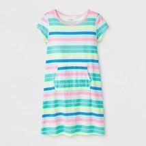 2-PACK Cat & Jack Girls' Adaptive Knit Stripe Dress, Rainbow, Large (10/... - £11.82 GBP