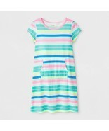 2-PACK Cat & Jack Girls' Adaptive Knit Stripe Dress, Rainbow, Large (10/... - $16.70