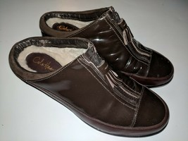 Cole Haan Air Luna Brown Patent Waterproof Shearling Clogs Zip Up D26035 6 B - $39.59