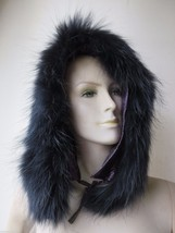 free shipping  Wonderful warmest  real  raccoon fur strip for  hat /black - $14.84