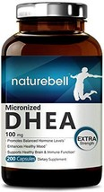 Pure DHEA 100mg Max Strength, 200 Capsules, Powerfully Supports Energy Level, He - $36.45