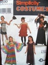 Simplicity 8830 Costumes Pattern Size A (7,8,10,12,14) Girls' Costumes - $14.70