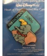 Disney Dumbo pin heart of Florida United way 2006 campaign participant E... - $9.74