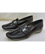 Sesto Meucci Comfort Shoes Size-8.5N Two Tone Black Leather Made in Italy - $24.95