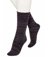 Hue Women's Brushed Roll Top Socks, Chrome, One Size - $9.80
