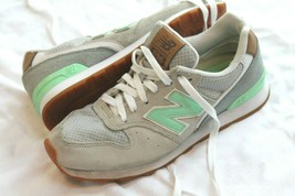 New Balance Size 6.5  WL696TCS Gray Mint Lace up Sneakers Athletic Shoes - $29.70