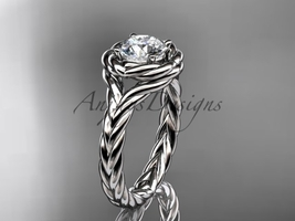 Rope engagement ring, Platinum  twisted rope engagement ring RP8201 - $1,375.00