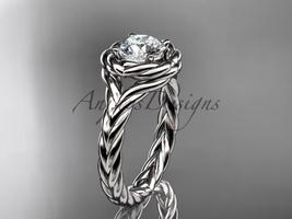 Amond wedding ring  rope ring  diamond engagement ring  forever brilliant moissanite  1 thumb200