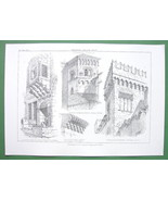 ARCHITECTURE PRINT : Fragments from Jerusalem Glasgow Naples Italy England - $8.55