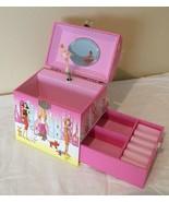 Musical Jewelry Box Dancing Ballerina Purse Design Pink Handle Kiyo and ... - $18.99