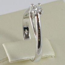 White Gold Ring 750 18K, Solitaire, Shank Crown, Diamond, Carat 0.11 image 2