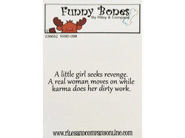 Riley & Company Funny Bones Rubber Cling Sentiment Stamp #RWD-098