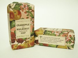 TWO Crabtree & Evelyn Crabapple & Mulberry Triple Milled Soaps Christmas... - $7.40