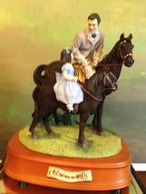San Francisco Music Box Co - Rhett & Bonnie Riding Lesson Gone With the ... - $150.00