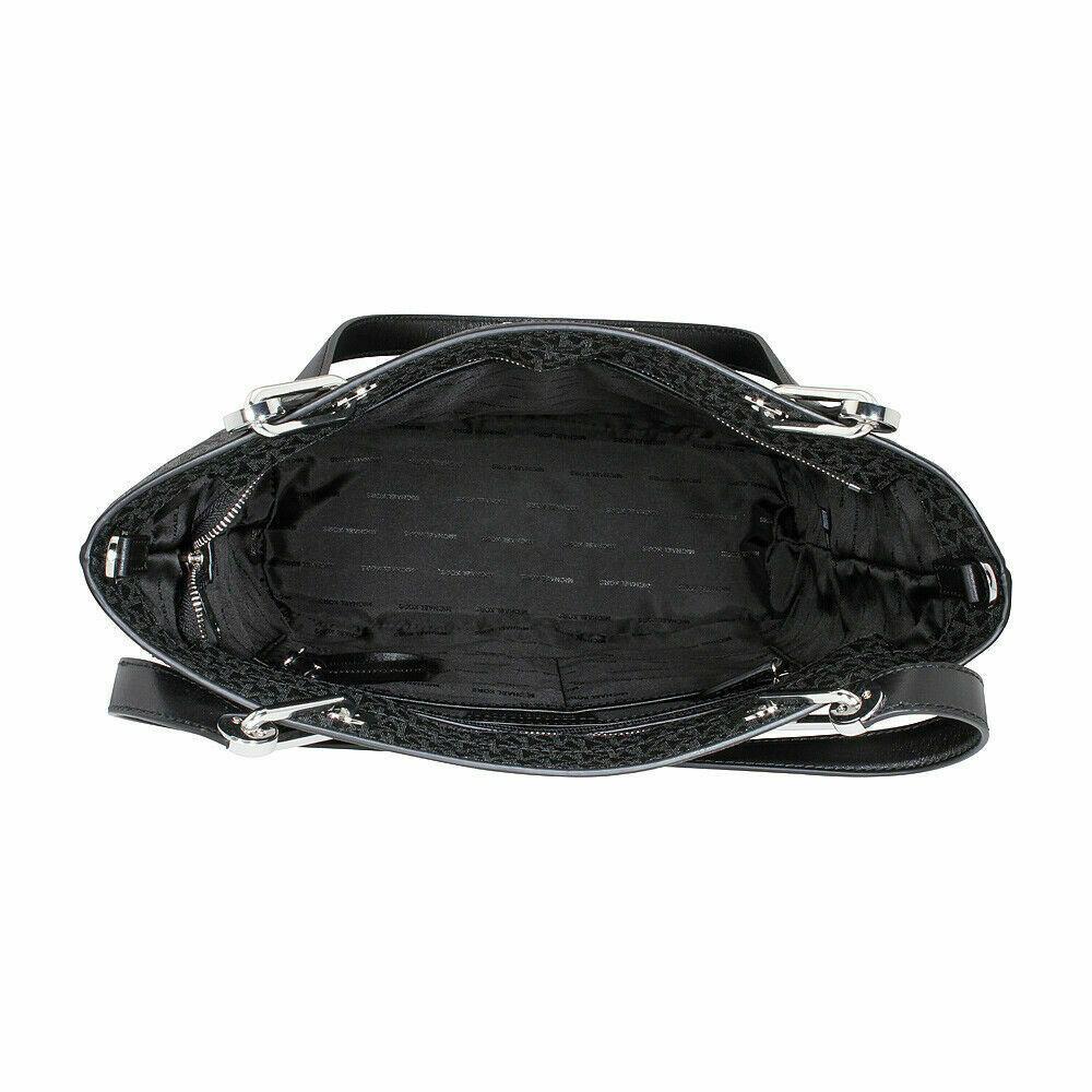 Michael Kors Raven Ladies Large Signature Twill Black Tote 30S7SRXT3V001