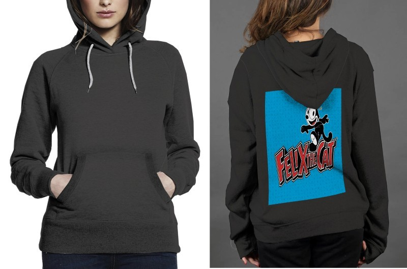 Primary image for Felix The cat Classic Hoodie Women Black
