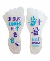 Sticky Feet - Sock and Stockings Feet Grip Stickers - Jesus Loves Me