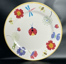 """BICO China Ladybug Dragonfly Floral Butterfly Platter Hand Painted 14.5""""... - $39.59"""