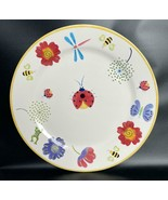 "BICO China Ladybug Dragonfly Floral Butterfly Platter Hand Painted 14.5""... - $39.59"