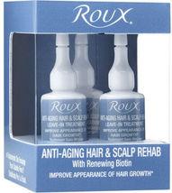 Roux Anti-Aging Hair & Scalp Rehab Treatment Ampoules, 3 Pack