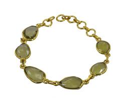 Yellow Gold Plated Glass comely Lemon Quartz indian Bracelet AU gift - $18.18