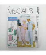 McCalls 6107 Unisex Lab Coat Medical Clothing Uniform Hospital Pattern U... - $14.99
