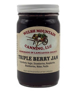 AMISH TRIPLE BERRY JAM - 100% Natural Strawberry Blackberry Black Raspbe... - $6.90+