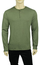 NEW CLUB ROOM FISHBONE HENLEY LONG SLEEVE GREEN T SHIRT TEE L - £9.20 GBP
