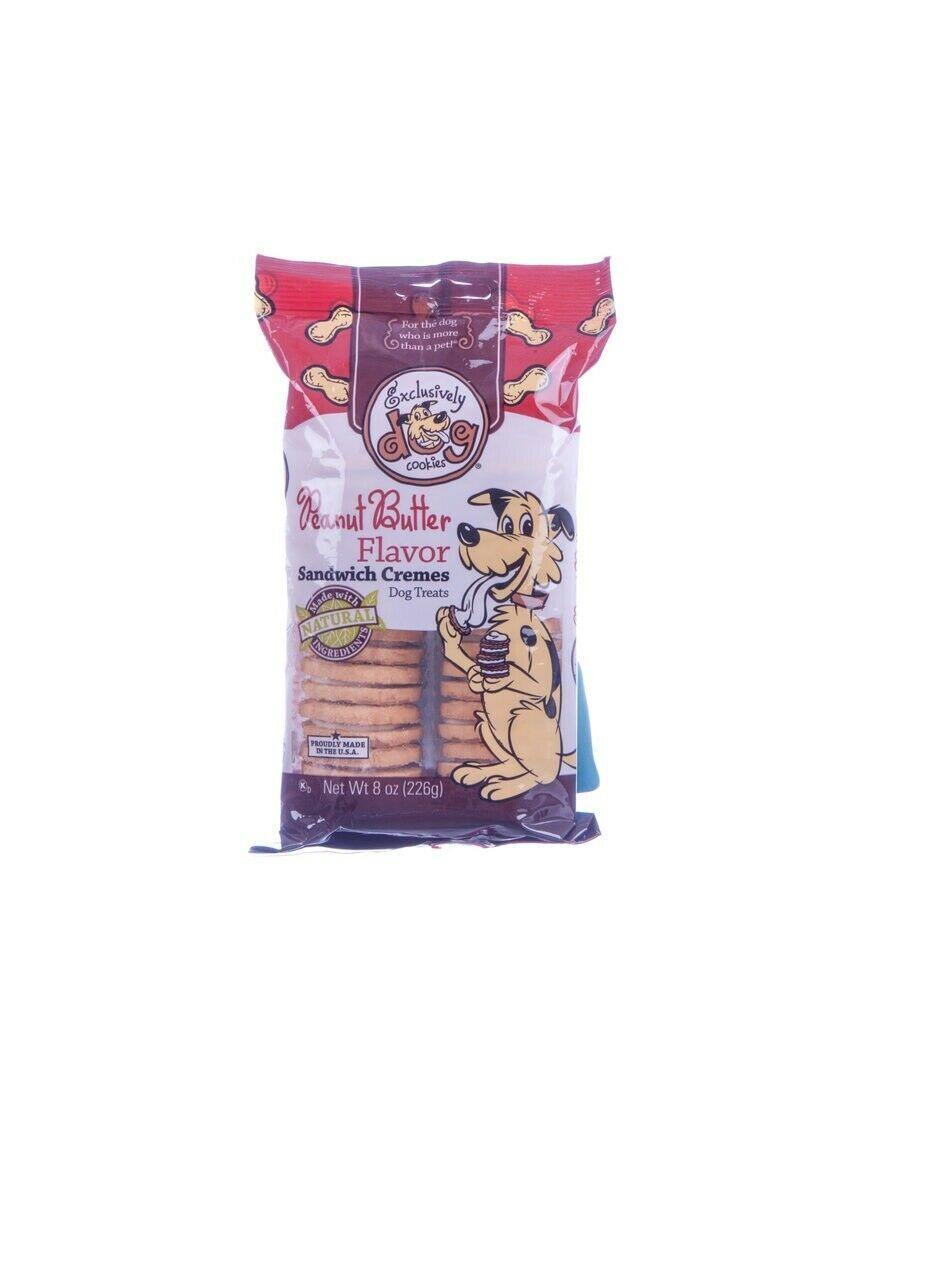 Sandwich Crema Cane Biscotti per Cani Aromatizzato Snack Premio Arachidi 8oz