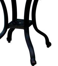3 piece bistro patio set Palm Tree cast aluminum outdoor end table Bronze chairs image 7