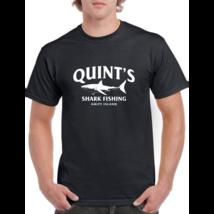 QUINT'S Shark Fishing TANK TOP T-shirt - Jaws Amity Shark Week-Men's T... - $35.99+