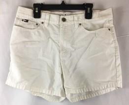 Women's Vintage Tommy Hilfiger White Jean Shorts Size 6 - $10.69