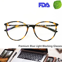 Computer Reading Glasses Blue Blocking Light Weight Round Women Anti Eye... - $41.32