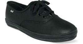 Womens Keds Champion Sneakers - Black Leather Size 10S - $54.99