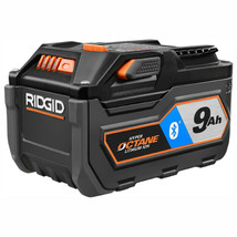 RIDGID Power Tool Battery 9.0 Ah 18-Volt Lithium Ion Rechargeable Bluetooth - $208.95