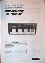 Korg 707 FM Performing Programmable Synthesizer Original Service Manual ... - $24.74
